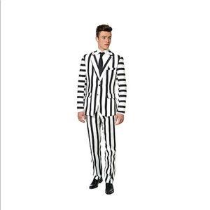 Beetlejuice Black & White Striped Suit Costume